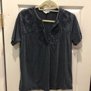 Blue cotton top. Lucky Brand